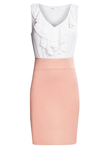 oodji-ultra-womens-combined-jersey-dress-pink-uk-14-eu-44-xl