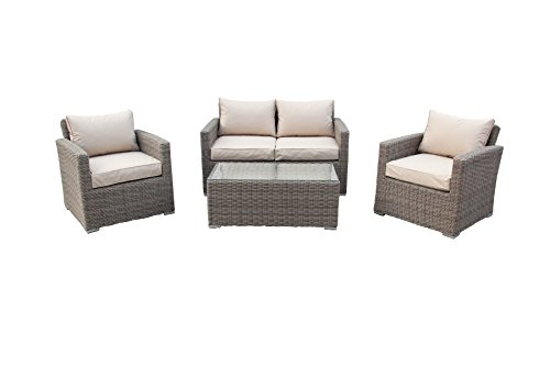 Luxurygarden salotto divano 2 posti in rattan sintetico - Mobili da giardino rattan sintetico ...