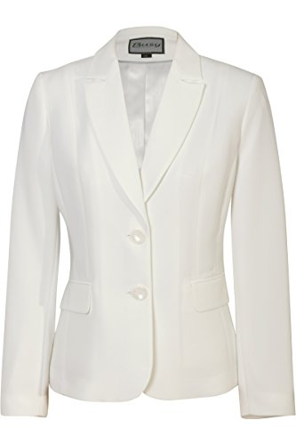 Busy Clothing Womens Light Cream Off White Suit Jacket – Size 12