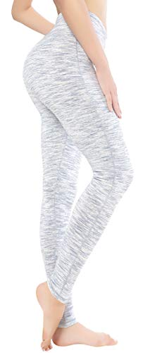 QUEENIEKE Damen Power Flex Yoga Hosen Training Laufende Leggings Farbe Weiß Space Dye Größe S(4/6) -