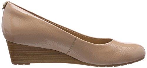 Clarks Damen Vendra Bloom Geschlossene Sandalen mit Keilabsatz Beige (Beige)