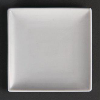 Olympia u153KBJ Quadratischer Teller, weiß (12Stück)