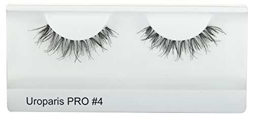UROPARIS False Eyelashes for Women, 4, Black