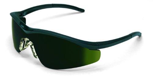 MCR Sicherheit t11150Triwear T1Hybrid Tempel Design Schutzbrille mit Onyx Rahmen und 5.0grün Objektiv