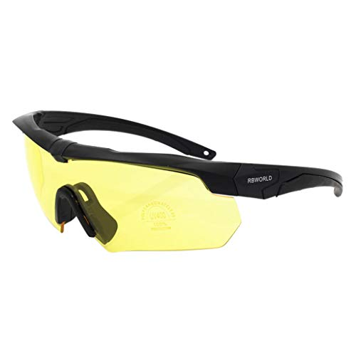 iCerber sonnenbrillen Chic Lässig Einzigartig Rockbros Radfahren Outdoor-Sportbrillen Fahrrad polarisierte Brille Sonnenbrille 3 Objektiv UV 400 ❀❀2019 Neu❀❀(Gelb)