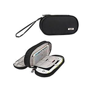 BUBM Kopfhörer Doppelte Fach Aufbewahrung Schutzhülle für Sony PSV, schützende Tragetasche, Portable Travel Organizer…