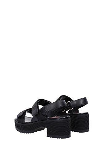 3X5980NERO Prada Sandale Femme Tissu Noir Noir