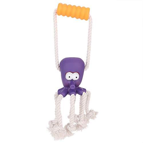 Naroote Hundespielzeug, Geknotete Spielzeug Tierform Band Kauen Haustier Spielzeug Heimtierbedarf(Lila) -