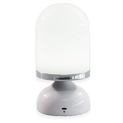 Preisvergleich Produktbild Tragbare LED Touch Nachttischlampe Kabellose Lampe (Batteriebetrieben,  bis 15 Std Licht,  Aufladbar über USB)