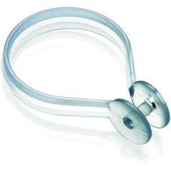 Croydex Clear Duschvorhang-Ringe, klar, zwölf Stück (Duschvorhang Knöpfe)