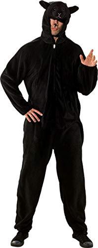 Für Erwachsene Schaf Kostüm - Fasching Kostüm Erwachsene Overall Schaf Beige Oder Schwarz (Herren, Schwarz)