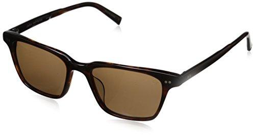 John Varvatos Herren V601 Brn Wayfarer Sonnenbrille, Braun