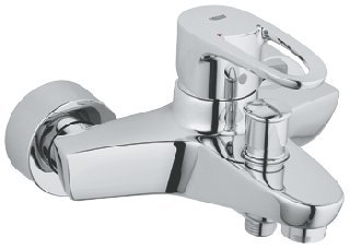 GROHE miscelatore monoleva per vasca da bagno o doccia a parete cromato (Grohe Europlus Parete)