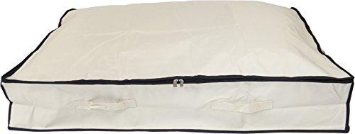 Neusu Starke Unterbett-Aufbewahrungstasche, XL, 130 Liter 96x78x18cm, Beige (King-size-bett-tasche)