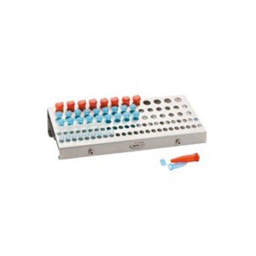 neoLab 7-3050 Lab-Kombi-Rack Edelstahl für Reaktionsgefäße mit PCR-Röhrchen