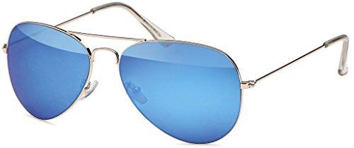 MOKIES Unisex Sonnenbrillen - UV400 Filterkategorie 3 CE Kennzeichnung - Pilotenbrille Fliegerbrille...