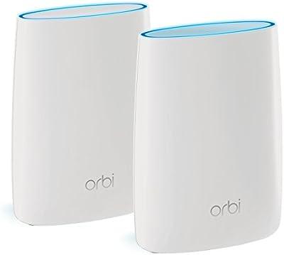 Netgear Orbi RBK50-100PES - Sistema WiFi de Red Mesh AC3000 Tribanda (kit de Router y Satélite, cobertura 370 metros ampliables, instalación sencilla y segura)