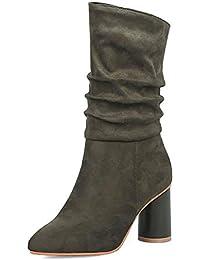 b18b23e28a9d5 HOESCZS novità Plus Size 34-43 Dropship Fashion Scarpe Donna Stivali Donna  Autunno Inverno Tacchi