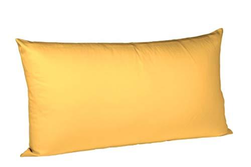 Fleuresse Colours Interlock Jersey Kissenbezug , sonne, 40 x 80 cm