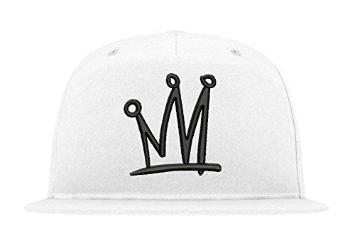 Cap Kid Ink (TRVPPY 5-Panel Snapback Cap Modell TGOD Khalifa Crown Krone, Schwarz-Weiß, B610)