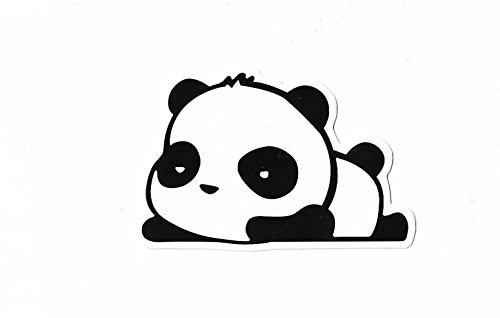 greestick Aufkleber Panda by Sticker Bomb schwarz weiß einzeln Vinyl Decal