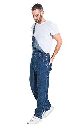 t - Stonewash billige Latzhose Jeanslatzhose herren denim Ov MENSVALUESW, Gr. EU 54 (Herstellergröße: W44/4XL)- Blau (Last Minute Billige Halloween Kostüme)