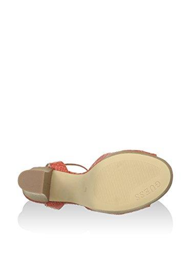 Guess FLD032PEL03 Sandale Femme Orange