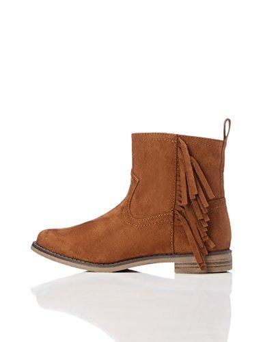 RED WAGON Mädchen Ankle Boots Stiefel mit Fransen, Braun (Brown), 30.5 EU