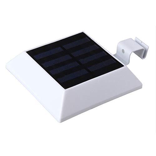 Dicomi 6 LED IP44 Wasserdichtes Solar Gartenlicht für Außenbereich Garten,Terrasse,Flur,Veranda,Terrasse,Deck, Weg oder Auffahrt Weiß(12V 6W 150LM 7000K) - Wahre Moderne Spot