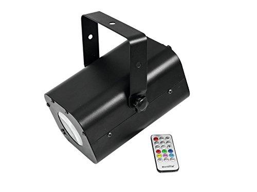 Eurolite FE-60 FB Flowereffekt   Lichteffekt mit Fernbedienung   RGBW Farbmischung   Partyraum Effektlicht   Soundsteuerung per eingebautem Mikrofon