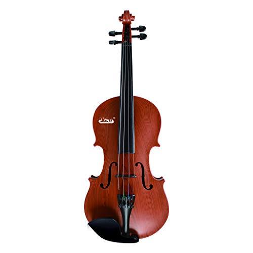 Geige Kinder, Geige Violine Spielzeug Musikinstrument Geschenk für Kinder Junge Mädchen weckt das Interesse an Streichinstrumenten fördert das musikalische Verständnis (Braun)