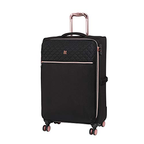 it luggage Divinity 8 Wheel Lightweight Semi Expander Suitcase Medium with TSA Lock Koffer, 70 cm, 90 liters, Schwarz (Black)