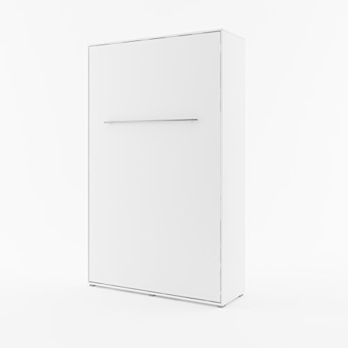 Schrankbett CONCEPT PRO Wandklappbett - Vertikal (120x200 cm, weiß matt)