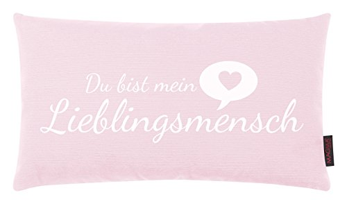 Kissen Lieblingsmensch altrose 30x50cm Made in Germany