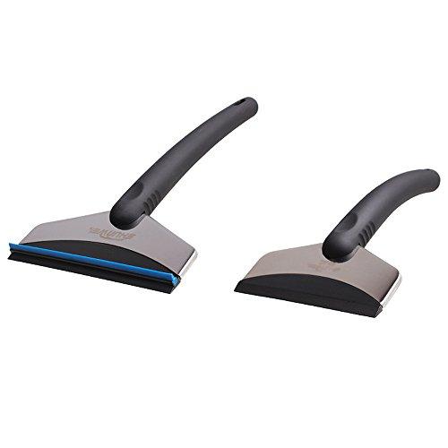 WawaAuto-Raschietto-per-ghiaccio-per-l-auto-in-alluminio-e-plastica-ABS-Stabile-di-Raschiatore-Raschietto-per-ghiaccio-per-l-auto-in-alluminio-e-plastica-ABS-Stab-Set-di-2