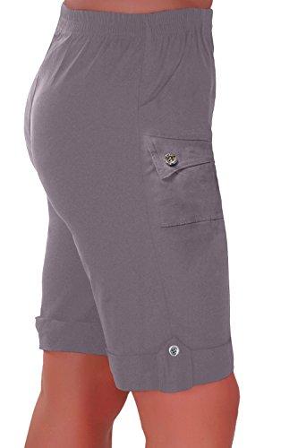 Eyecatch - Skye Dames Détendu Confort Élastique Flexible Étendue Aux Femmes Short Plus Tailles Gris