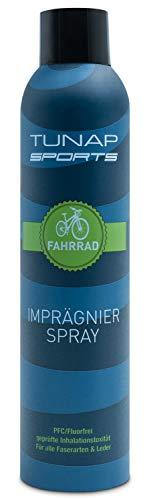TUNAP Imprägnierspray 300 ml, schützt Textilien beim Outdoor Sport, macht die Kleidung wasserdicht