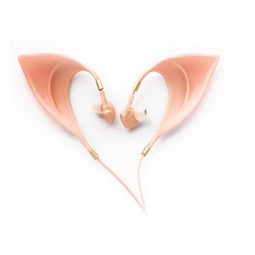 Urbun Elf Ohrhörer - Elegante Elfenohrenform Design Kopfhörer Ultra weich schnurgebunden perfekte Klangqualität Fairy 's Adorable Cosplay Headset Spirit Kostüm Zubehör