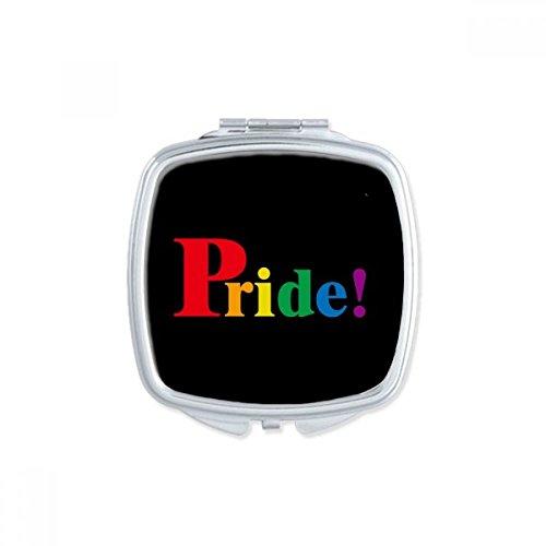 Orgullo Lgbt Rainbow Homo cuadrado compacto Maquillaje espejo de bolsillo portátil cute pequeña mano espejos regalo