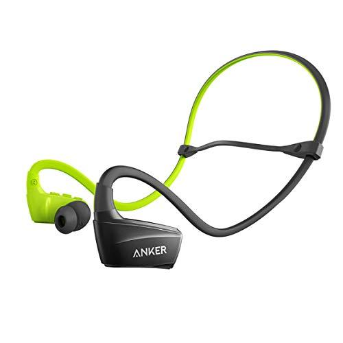 Anker SoundBuds Sport NB10 Bluetooth Kopfhörer, Bluetooth 4.1 Sport Ohrhörer, 12 mm Audio Treiber, IPX-5, Schweißfest, Fester Halt mit Einstellbaren Halsband für Ihr Training, Fitness und Joggen(Grün)