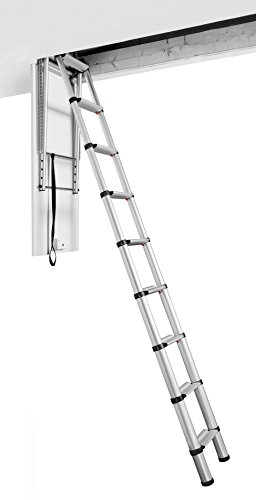Telesteps 60324 Attic Telescopic Ladder, Silber