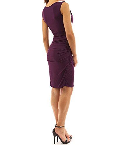 ACVIP Donna Media-Lunghezza Vestitio da Sera Modello 2 Viola Scuro