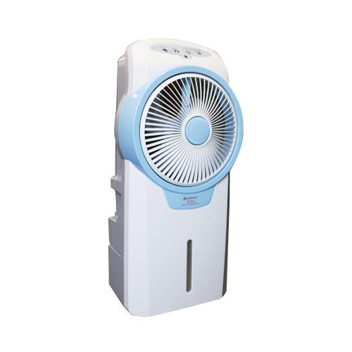 Rechargeable Air cooler AC DC with 3-5 hours backup with remote and base wheels portable light weight