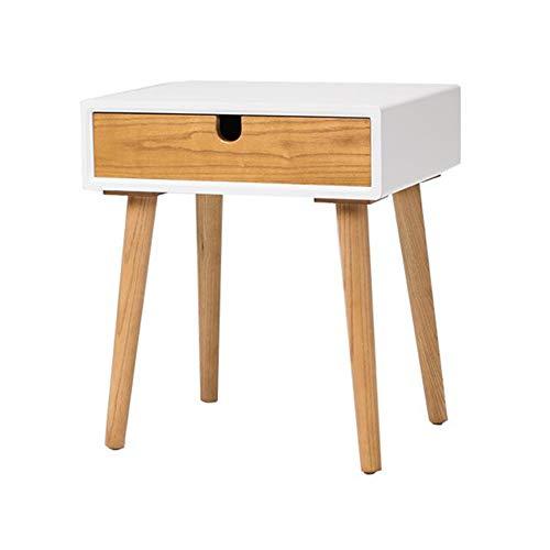 Tables CJC, en Bois Chevet Tiroir avec Étagère Cabinet Côté Stockage Unité, pour Vivant Salle (Couleur : One Drawer)