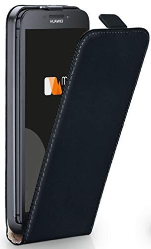 moex Huawei G630   Hülle Schwarz 360° Klapp-Hülle Etui Thin Handytasche Dünn Handyhülle für Huawei Ascend G630 Case Flip Cover Schutzhülle Kunst-Leder Tasche
