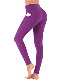 b66c2d74764504 IUGA High Waist Yoga Pants Inner/Out Pocket Design UK840-Purple-Large