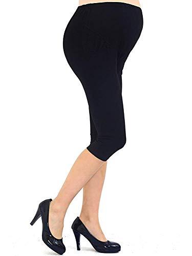 53fdbb0a8 Liang Rou Spandex Soporte del vientre Maternidad Ajustable Cinturilla  Leggings Recortados Con Pocket Color Negro talla