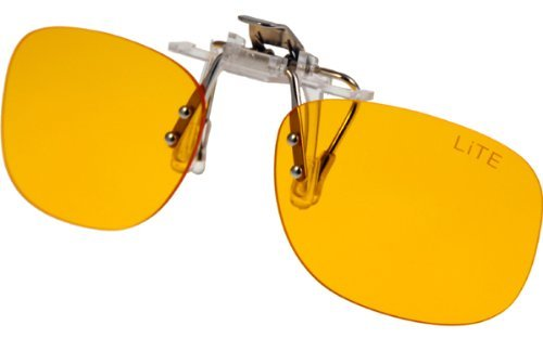 PRiSMA CLiP-ON bluelightprotect LiTE - Blueblocker Brillenaufstecker - Brillen-Clip - Brillenaufsatz - CP704