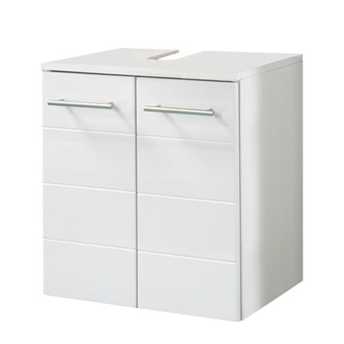 Held Möbel 084.2084 Rimini Unterbeckenschrank 2-türig, 50 x 53 x 34 cm, hochglanz weiß
