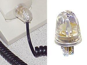 5 Stück Twist-Stop - Entwirrer für Kabel von Telefonhörer RJ10 - schmale kurze Bauform in transparent -